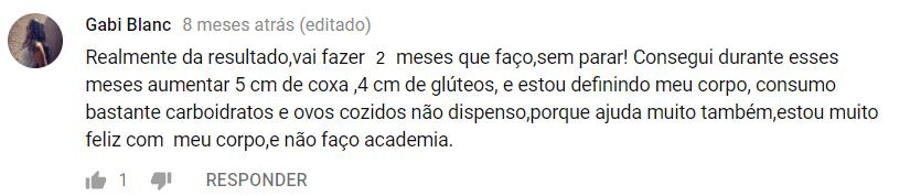 GLÚTEOS AO EXTREMO - MBN depoimento 2