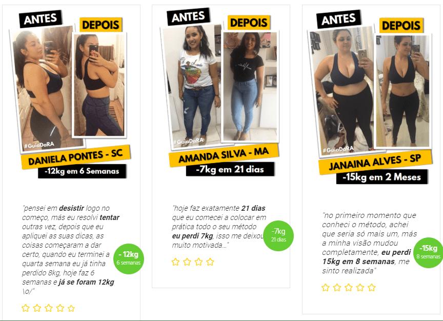 Resultado Guia de Reeducação Alimentar (Antes e Depois)