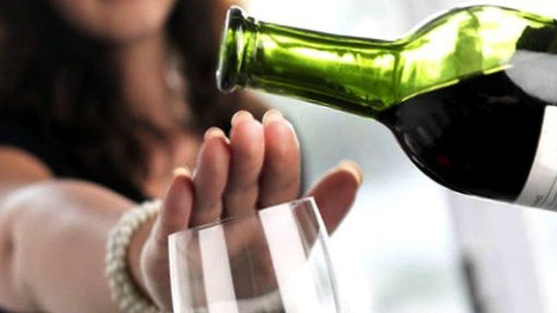 Não beba muito álcool