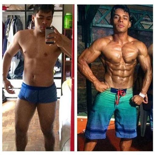 Alexandre: 8 meses de treino - Aluno do Curso Natural Bodybuilding - O guia completo de treino do Caio Botura